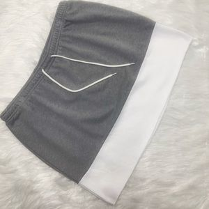Large Grey and White Cotton Skirt